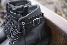 It's all in the details #black #boots #men #buckle #leather #detail #closeup