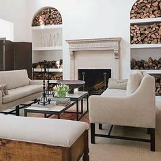 Coffee Table | Living Room design by Darryl Carter, via his website, as seen on linenandlavender.net