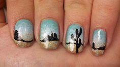 Breaking Bad desert nail art