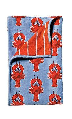 Lobster Printed Beach Towel