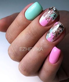 Want some ideas for wedding nail polish designs? This article is a collection of our favorite nail polish designs for your special day. Pastel Nails, Neon Nails, Pink Nails, My Nails, Red Nail, Cute Nails, Pretty Nails, Wedding Nail Polish, Nagel Hacks