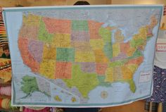 US map baby quilt tutorial