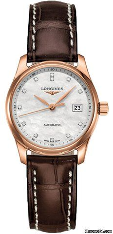 Longines Master Automatic 29mm $3,820 #chronograph rose gold case with crocodile skin bracelet and automati movement #luxurywatch #Longines-swiss Longines Swiss Watchmakers watches #horlogerie @calibrelondon