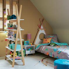 Tête de lit 90cm en pin massif en forme de tipi - Tipi - Tiroirs, Têtes de lit-Lits-Chambre-Par pièce - Décoration intérieur - Alinea