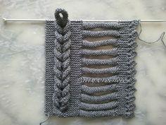 biezen breien in een vest of trui, en deze omhoog haken tot een vlecht-kabel (bij een vest leuk om daar een knoop- of houtje-touwtje sluiting van te maken