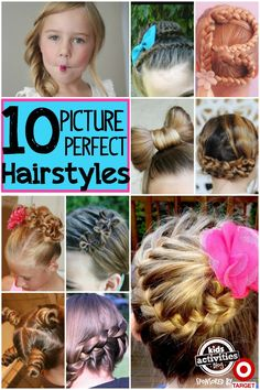 Super cute picture day hairstyles for girls. So many fun ideas!
