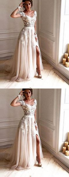 Dark Ivory Cap Sleeve Lace Beaded A line,Long Evening Prom Dresses, Popular Long 2018 Party Prom Dresses, Dream Bridal Wedding Dresses #prom #dresses #longpromdress #promdress #eveningdress #promdresses #partydresses #2018promdresses #weddingdresses #bridaldresses #whitelacepromdresses