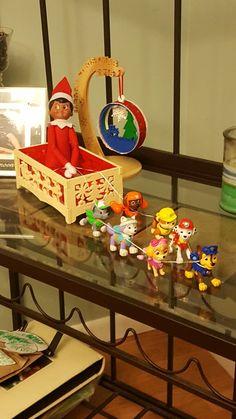 Elf on a shelf Paw Patrol Sleigh