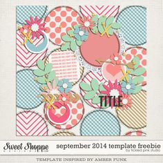 Quality DigiScrap Freebies: September Template freebie from Tickled Pink Studio