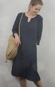 Linen Tunic Dress by KnockKnockLinen on Etsy