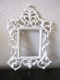 Your place to buy and sell all things handmade Ornate Frame, Vintage Home Decor, Vintage House, Metal Picture Frames, Ornate, White Vintage, Vintage Frames, Frame, Metal Frame