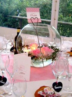 ... et roses flottantes more center wedding decoration deco table