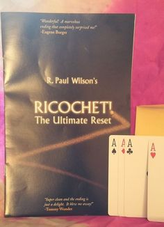 RICOCHET R PAUL WILSON THE ULTIMATE RESET CARD TRICK ENDORSED BY MANY Please check out all our rare value priced Magic tricks & Books at: http://stores.ebay.com/webrummage