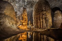At more than 200m high, 150m wide and 5km long, the Hang Son Doong cave in   Vietnam is so big it has its own river, jungle and climate.