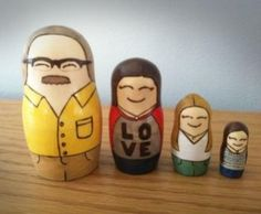 Custom Matryoshka Dolls Of Your Family - The custom matryoshka family dolls are made from wood, paint, and woodburn, are hand made, and will make a great gift or family heirloom.