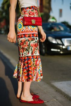 Beautiful skirt seen at the Cannes Film Festival.