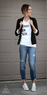 boyfriend jeans with ankle wedge boots - Google Search