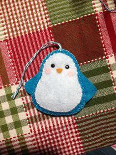 Felt crafts for Christmas. Winter penguin