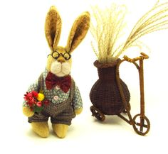 Collectible Bunny Georgy artist teddy bunny teddy от KatrinFerre