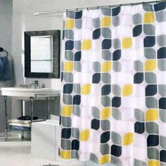 Discount prices on Metro Extra Long Shower Curtain Multi Accessories. Shop our incredible selection of interior decorating products. Extra Long Shower Curtain, Long Shower Curtains, Bathroom Shower Curtains, Grey Bathrooms, Guest Bath, Window Treatments, Interior Decorating, Sweet Home, Bath Ideas