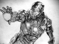 My Iron Man drawing :D