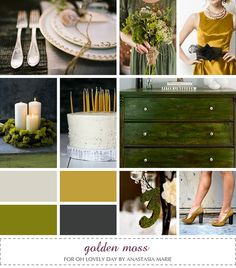 Love these colors for fall, maybe throw in some orange, of course.