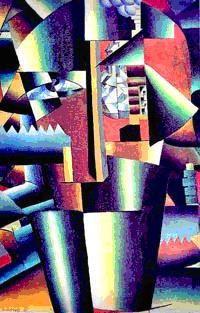Retrato Aperfeiçoado de I. V. Kliun (1913) –  quadro cubo-futurista de Kasimir Malevitch