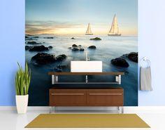 Selbstklebende Tapete - Fototapete #Segelschiffe im #Ozean #naturpur #nature #Tapete #Sonne #Landschaft #freedom #Natur #Abenteuer #Meer