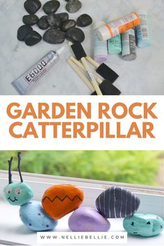 Kids love to pick up rocks. Here is a fun way to use those rocks they are always collecting. Make a cute kids craft Caterpillar for your yard. #Kidscraft #rocks #Craft #Easy Rock Painting Ideas Easy, Painting For Kids, Cute Kids Crafts, Diy Crafts, Painted Rocks Kids, Cute Diys, Cool Diy Projects, Caterpillar, Diy Tutorial