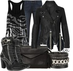 "BIKER CHIC HAIR | Biker chic"" by coombsie24 on Polyvore"