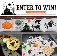 Want to win a free Halloween Stencil? Easily create boo-tiful decor using our spooktacular new Halloween stencils!  Enter now: www.22s.com/cuttingedgestencils