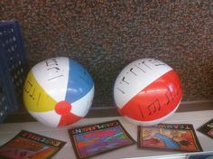 After ss heard rhythmic patterns in time and were able to orally decode, they used beach balls I created to read the notation. Piano Lessons, Music Lessons, Music Activities, Music Games, Music Classroom, Classroom Ideas, Music Lesson Plans, Reading Music, Music And Movement