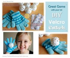[Craft N Game] A super-easy craft you do with kids: DIY Velcro Catch. It is one of those games which is going to bring laughter for hours in a wintry rainy day. Rainy Day Activities, Toddler Activities, Kids Diy, Crafts For Kids, Diy Educational Toys, Rainy Day Fun, School Tool, Diy Camping, Toy Craft