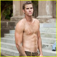 Liam Hemsworth HUNGER GAMES good god, you sire, are fine.