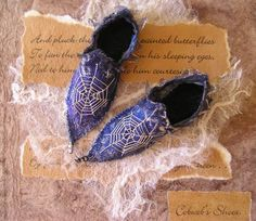 Annette Ems fairy shoes...tiny works of art