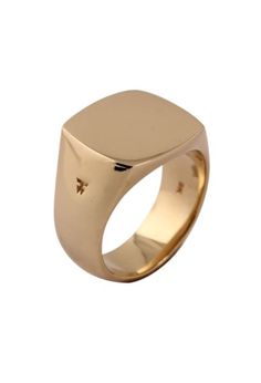 Tom Wood @tomwoodproject gold signet ring