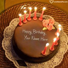 Birthday Cake With Candles Free Download Name Generator Happy Papa Writing