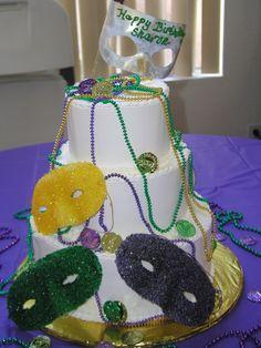 #06 3 tier Mardi gras cake at delriocakes.biz