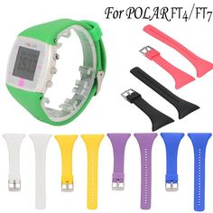 Genuine Silicone Rubber Watch Band Replacement Strap For Polar Ft4 Ft7 Watch