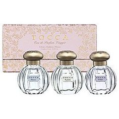 Tocca Beauty Eau de Parfum Viaggio #2 (Holiday) - Colette, Giulietta, Bianca by Tocca. $45.00. Viaggio #2 Set Includes: * Colette with Vanilla, Sandalwood, Musk, Incense notes (0. Introduce yourself to three beautiful scents with Tocca Eau de Parfum Viaggio #2 (New). Indulge in three of your favorite TOCCA fragrances in Old World inspired, beautifully collectible bottles. The house of Tocca calls to mind chic European style and old-world places. The perfect introd...