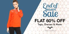 Voonik.com is here with an absolutely delightful offer, where you get up to 60% off on western wear for women. One can pick from tops, shirts, bottoms, dresses and lot more. So without delaying anymore, just hurry and avail this offer immediately. Store Name:Voonik.com Deal:up to 60% off Shipping charges: Free Offer: For limited period ...