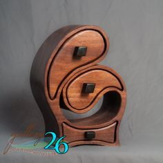 Items similar to Embrace Style Jewelry Notions Box Fanciful and Functional Sculptural Box made by Baerreis MADE TO ORDER-Walnut on Etsy Bandsaw Projects, Wood Projects, Woodworking Projects, Wine Bottle Wall, Bottle Art, Wine Bottles, Shabby Chic Accessories, Cedar Box, Box Maker