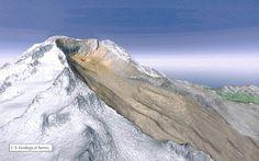 Mount Rainier Volcano   Volcanic Landslides at Mount Rainier volcano, Washington