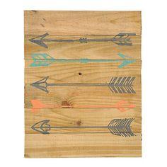 Colorful Arrows Wood Plank Plaque