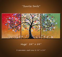 "Great Idea for a Family Tree Display... Each canvas could be a different ""branch"" or family."