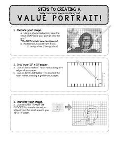 Project ART-A-DAY: Lesson: Value Self Portraits
