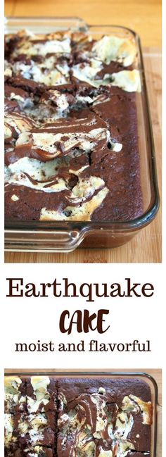 Earthquake cake is a delightful chocolate cake dessert made with crunchy pecans, coconut flakes, and chocolate chunks, with a delicious cream cheese batter mixed in. This is your ultimate chocolate treat!