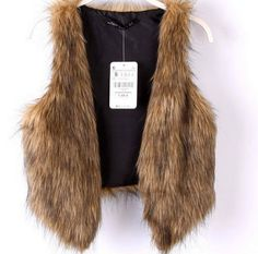 Faux Fur Vest by WouldClothing on Etsy, $45.00