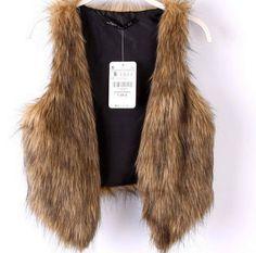 Faux Fur Vest by KneeDeepDenim on Etsy