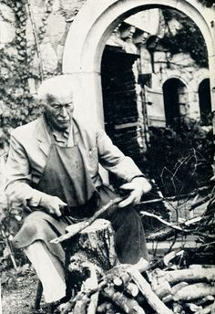 Jung at Bollingen 1958 (chopping wood, carrying water) Man whom chops his own wood is thrice warm I always told my brother from another mother Humanistic Psychology, Jungian Psychology, Carl Jung Quotes, C G Jung, Brother From Another Mother, Great Thinkers, Mental Strength, Tower House, Mandala